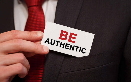 Be authentic business card