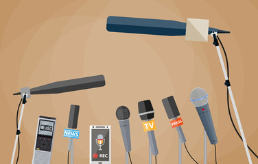 Illustration of microphones