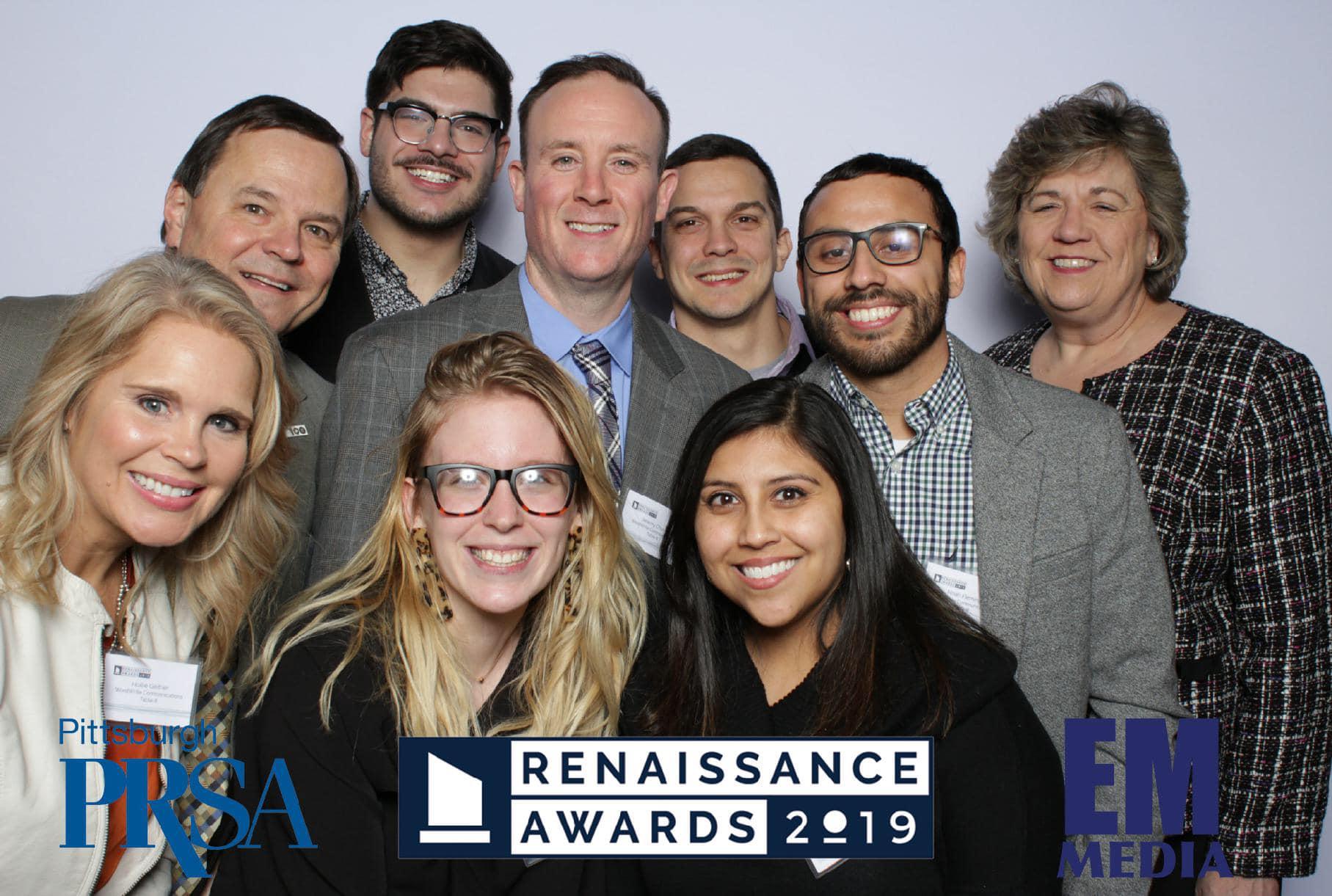 WordWrite staff with 2019 Renaissance Award