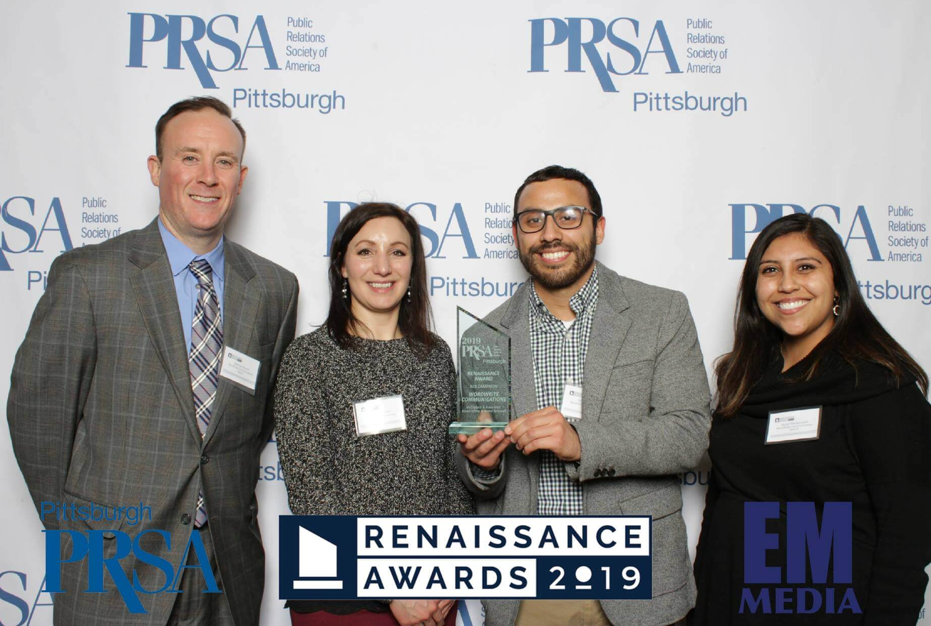 WordWrite staff with 2019 Renaissance Award