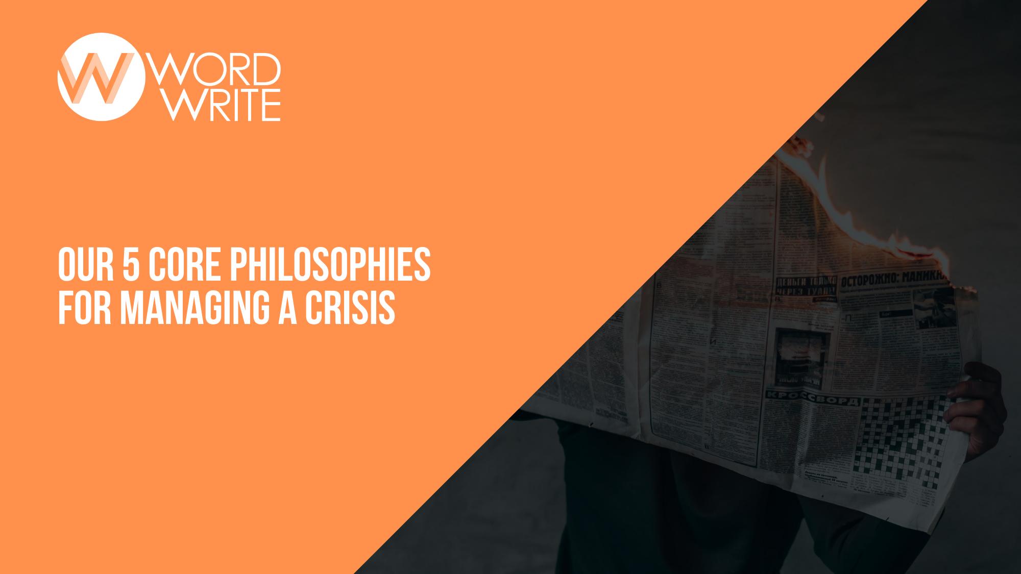 Crisis philosophies