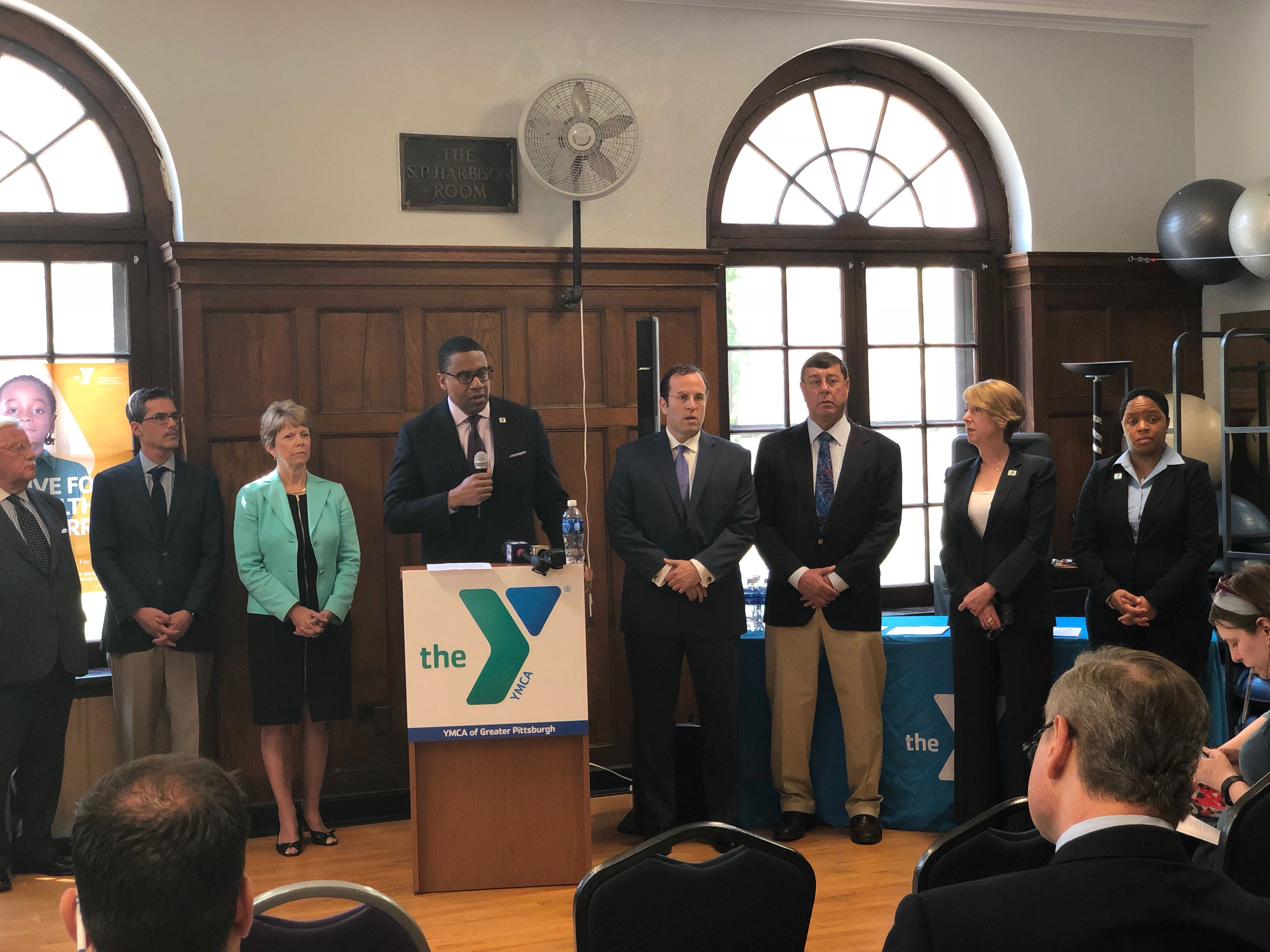 YMCA press conference