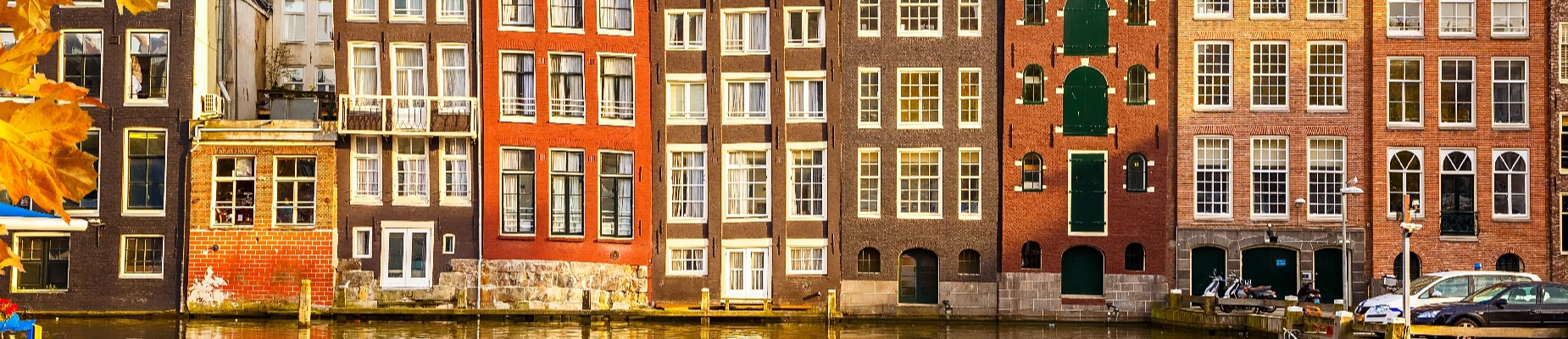 Buildings near water in Amsterdam