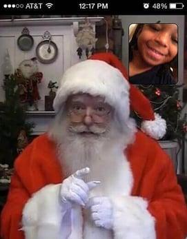 Even Santa uses FaceTime