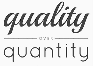 When it comes to social media, choose quality over quantity.