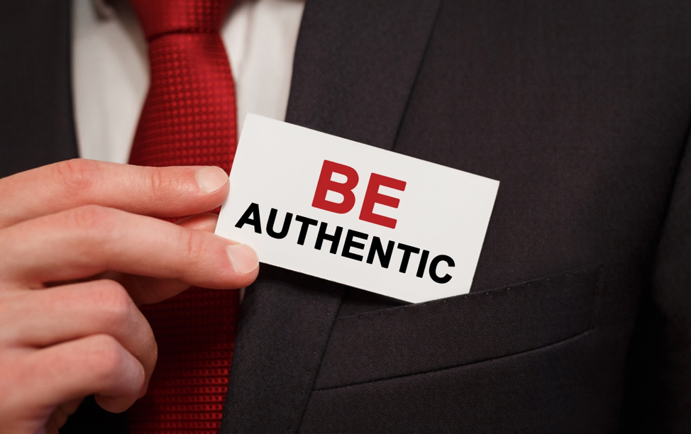 When marketing, be authentic.